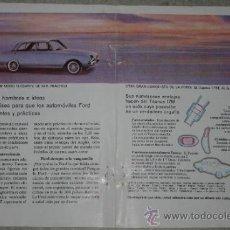 Coleccionismo: ANUNCIO ANTIGUO COCHE FORD TAUNUS, 1960. Lote 37823064