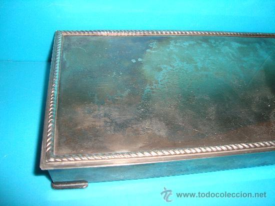 Coleccionismo: CAJA TABAQUERA DE ALPACA PLATEADA CON INTERIOR DE MADERA - Foto 5 - 32985935