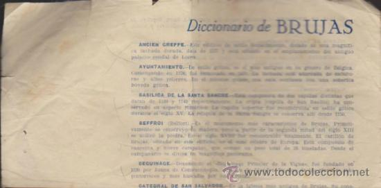 DICCIONARIO DE BRUJAS. (Coleccionismo - Laminas, Programas y Otros Documentos)