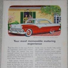 Coleccionismo - Anuncio americano de coche ford fairlane victoria, 1955 - 38377070