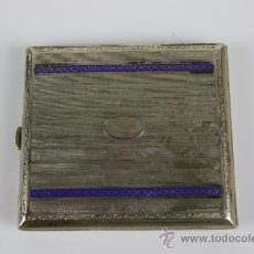 Coleccionismo: PITILLERA EN ALPACA ESMALTADA AÑOS 20. . Lote 38417463