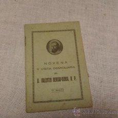 Coleccionismo: NOVENA Y VISITA DOMICILIARIA AL BEATO VALENTIN BERRIO-OCHOA. Lote 38427554
