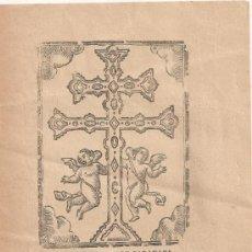Coleccionismo: LA SANTA CREU DE CARAVACA. DEVOCIONS A CRISTO CRUCIFICAT. MANRESA : IMP. ROCA, 1898. 22X15CM. 4 P.. Lote 38529225