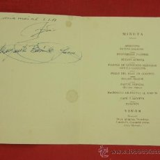 Coleccionismo: MENÚ MINUTA DE BODA RESTAURANTE DIAGONAL BARCELONA 19 JUNIO 1947 DEDICADO ENLACE MATRIMONIAL. Lote 38607261