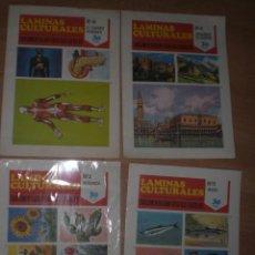 Coleccionismo: LOTE DE 4 ANTIGUAS LAMINAS CULTURALES. Lote 38702650