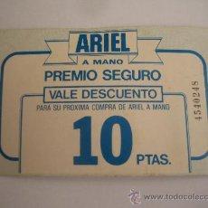 Coleccionismo: VALE DESCUENTO DETERGENTE ARIEL 1986. Lote 38719904