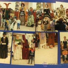 Coleccionismo: REPORTAJE FOTOGRAFICO DE TROBADA GEGANTS A ARENYS DE MUNT. 10-04-1988. 24 FOTOGRAFÍAS.. Lote 38756758