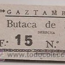 Collezionismo: BILBAO: ENTRADA ANTIGUA. TEATRO GAZTAMBIDE. Lote 38991810
