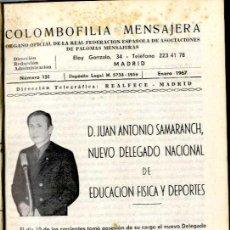 Coleccionismo: COLOMBOFILIA MENSAJERA AÑO 1.967 COMPLETO . Lote 39026159