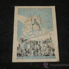 Coleccionismo: ANTIGUO PROGRAMA DE FIESTA MAYOR, CANET DE MAR, 1942. Lote 39245525