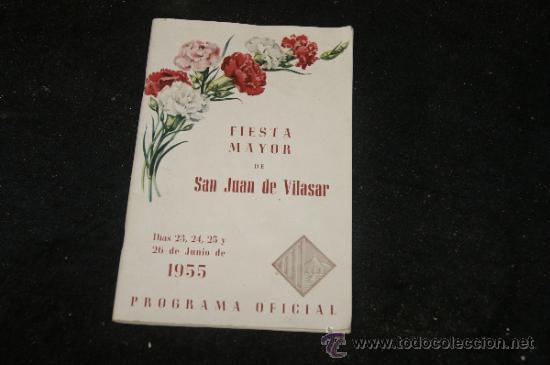 ANTIGUO PROGRAMA DE FIESTA MAYOR, VILASSAR DE MAR, 1955 (Coleccionismo - Laminas, Programas y Otros Documentos)