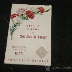 Coleccionismo: ANTIGUO PROGRAMA DE FIESTA MAYOR, VILASSAR DE MAR, 1955. Lote 39245541