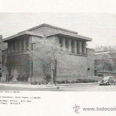 Coleccionismo: +-+ LA29 - LAMINA - UNITY CHURCH - OAK PARK - ILLLINOIS. Lote 39247670