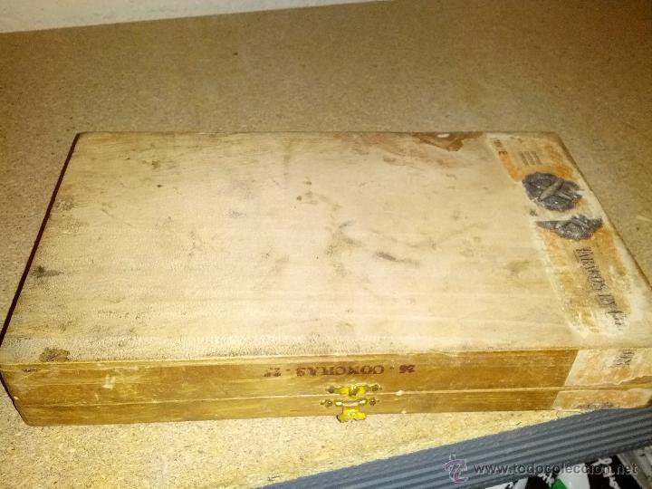 Coleccionismo: Antigua Caja de tabaco la dalia jose cabrera morales - Foto 4 - 39306103