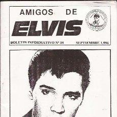 Coleccionismo: FANZINE AMIGOS DE ELVIS Nº 35 SEPTIEMBRE 96-TENERIFE. Lote 39387850