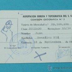 Sevilla 1939 carnet oficina de colocacion obre comprar for Oficina padron barcelona