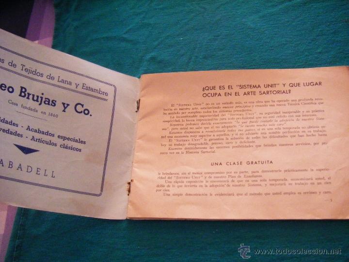 Coleccionismo: SISTEMA UNIT, SOLUCIÓN DE LOS PROBLEMAS DEL ARTE SARTORIAL, MIGUEL RODRIGUEZ, BARCELONA, COSTURA - Foto 3 - 39583692