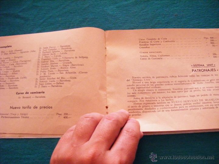 Coleccionismo: SISTEMA UNIT, SOLUCIÓN DE LOS PROBLEMAS DEL ARTE SARTORIAL, MIGUEL RODRIGUEZ, BARCELONA, COSTURA - Foto 6 - 39583692