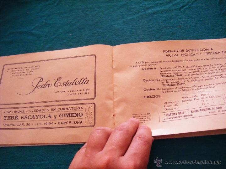 Coleccionismo: SISTEMA UNIT, SOLUCIÓN DE LOS PROBLEMAS DEL ARTE SARTORIAL, MIGUEL RODRIGUEZ, BARCELONA, COSTURA - Foto 8 - 39583692