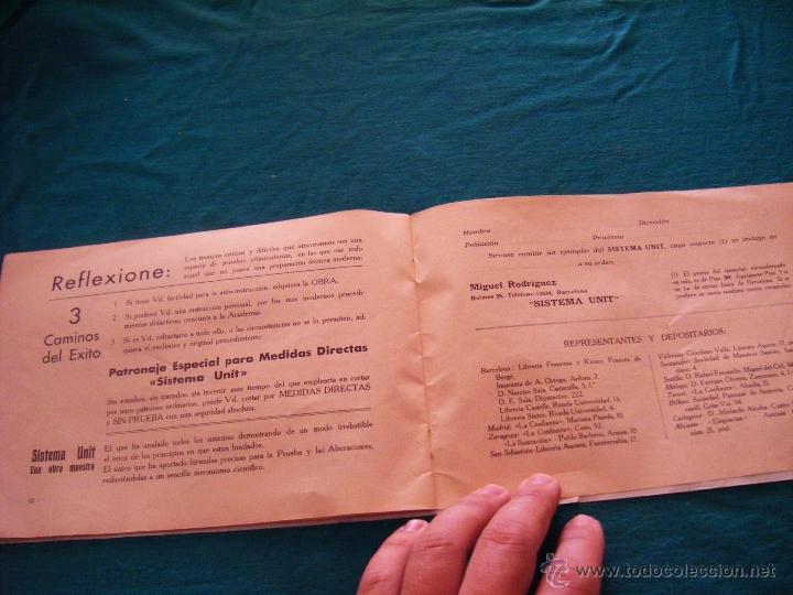 Coleccionismo: SISTEMA UNIT, SOLUCIÓN DE LOS PROBLEMAS DEL ARTE SARTORIAL, MIGUEL RODRIGUEZ, BARCELONA, COSTURA - Foto 11 - 39583692