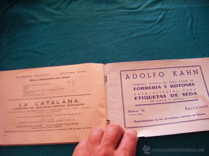 Coleccionismo: SISTEMA UNIT, SOLUCIÓN DE LOS PROBLEMAS DEL ARTE SARTORIAL, MIGUEL RODRIGUEZ, BARCELONA, COSTURA - Foto 12 - 39583692