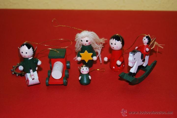 Figuras de madera adornos para rbol de navid comprar for Adornos navidad online