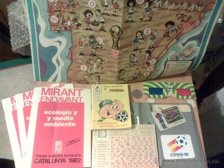 LOTE 1982 CROMO ALBUM FUTBOL 82 PROGRAMA PSC POSTER MUNDIAL GAFAS 3D TV AGENDA ESTADÍSTICA MONEDA, usado segunda mano