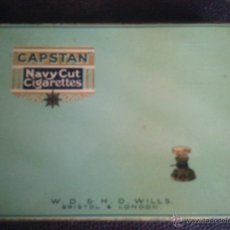 Coleccionismo: CAJA METALICA CAPSTAN - NAVY CUT CIGARETTES . Lote 39772919