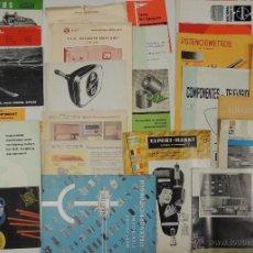 Coleccionismo: LOTE CATALOGOS ANTIGUOS INDUSTRIALES DE ELECTRONICA ANALOGICA AÑOS 50' 60'. Lote 39779270