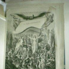 Coleccionismo: ESTAMPA DE GRABADO ANTIGUA FRANCESA. Lote 39938727
