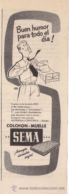 anuncio de colchones sema, abril de 1955   Comprar Documentos