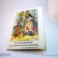 Coleccionismo: ANTIGUO LIBRITO SERIE CALCOMANIAS ARTISTICAS LA BRUJA DEL HERBOLARIO DE TRAUDL BOMMARIUS, 1943. Lote 152190733