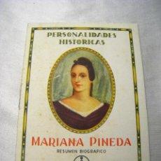 Coleccionismo: PERSONALIDADES HISTORICAS: MARIANA PINEDA - BAYER. Lote 40225695
