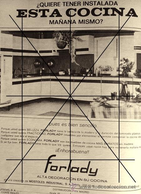 años 60. muebles de cocina forlady - Comprar Documentos antiguos en ...