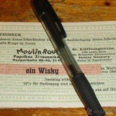 Coleccionismo - TICKET O VALE PARA UN WHISKY, MOULIN ROUGE. - 40471346