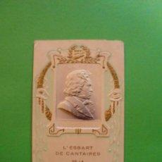 Coleccionismo: L'ESBART DE CANTAIRES DE LA UNIÓ CALAFINENSE - DIPTICO MODERNISTA CALAF. Lote 40476351