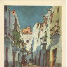 Coleccionismo: LAMINA DE ACUARELA DE GUILLEM FRESQUET (REPRODUCCION). Lote 40542387