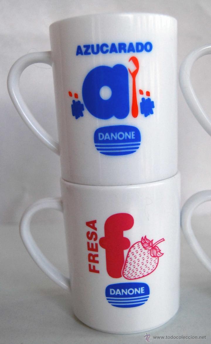 Coleccionismo: 4 TAZAS DE PLASTICO DURO DE DANONE MACEDONIA PLATANO FRESA Y AZUCARADO TAZA ANTIGUA DE PUBLICIDAD - Foto 2 - 40630839