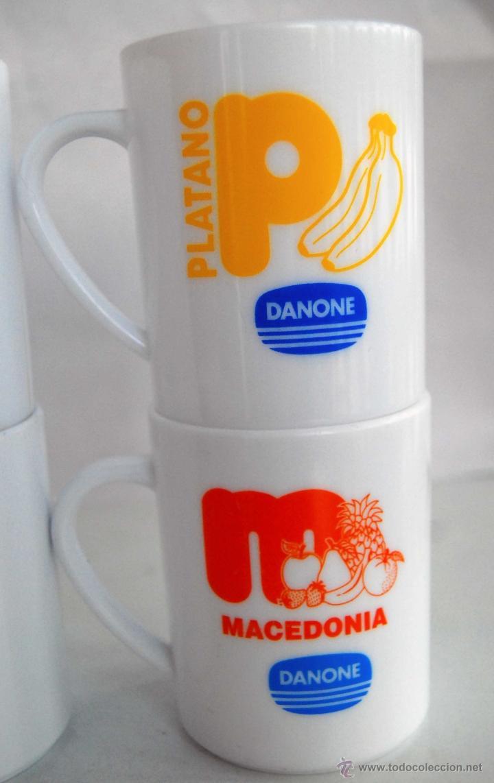 Coleccionismo: 4 TAZAS DE PLASTICO DURO DE DANONE MACEDONIA PLATANO FRESA Y AZUCARADO TAZA ANTIGUA DE PUBLICIDAD - Foto 3 - 40630839