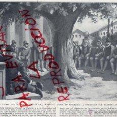 Coleccionismo: GUERNICA 1601 DIPUTADOS VASCOS BAJO EL ARBOL DE GUERNICA HOJA LIBRO 1910. Lote 40740105