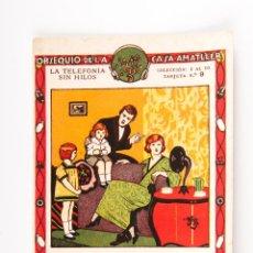 Coleccionismo: OBSEQUIO DE LA CASA AMATLLER, LA TELEFONIA SIN HILOS COLECCION DEL 1 AL 10 Nº 9. Lote 40770323