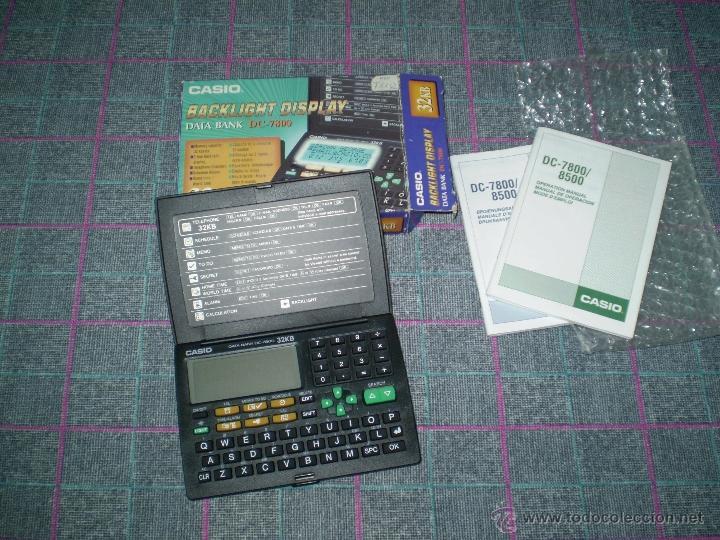 Coleccionismo: Antigua calculadora agenda Casio Data Bank DC-7800. Nueva pero no funciona. - Foto 2 - 40788854