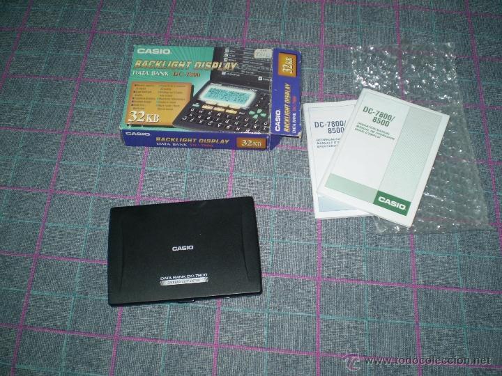 Coleccionismo: Antigua calculadora agenda Casio Data Bank DC-7800. Nueva pero no funciona. - Foto 3 - 40788854
