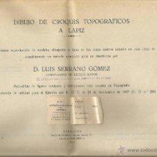 Coleccionismo: == RR97 - DIBUJO DE CROQUIS TOPOGRAFICOS A LAPIZ POR D. LUIS SERRANO GOMEZ - 1927 - 19 LAMINAS. Lote 40946429