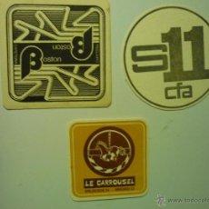 Collezionismo: LOTE POSAVASOS CARTULINA DIFERENTES ESTABLECIMIENTOS ESPAÑOLES MADRID ETC,. Lote 41011545