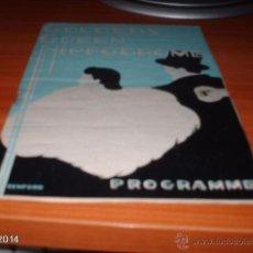 Coleccionismo: PROGRAMA DE TEATRO DE INGLATERRA DE LOS AÑOS 40-50 DEL SIGLO XX. Lote 41032984