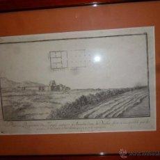Coleccionismo: PLANO DEL TEMPLO ANTIGUO DE AMADA. Lote 41098951