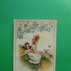 Coleccionismo: TARJETA PUBLICITARIA CHOCOLATE AMATLLER 1895 IMPRESA A DOS CARAS. Lote 41249528