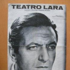 Coleccionismo: ALBERTO CLOSAS, JULIA GUTIERREZ CABA. FLOR DE CACTUS.PROGRAMA TEATRO.TEATRO LARA.. Lote 41284855