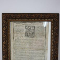 Coleccionismo: J2-019 CEDULA DE (...) PER NO OBLIDARSEDE LA ...BARCELONA, GIRALT, S. XVIII. Lote 41404360